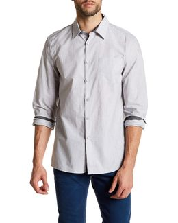 Long Sleeve Solid Pocket Woven Modern Fit Shirt