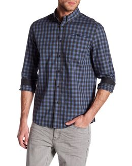 Long Sleeve Slim Fit Plaid Shirt