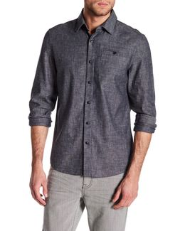 Long Sleeve Slim Fit Flannel Shirt