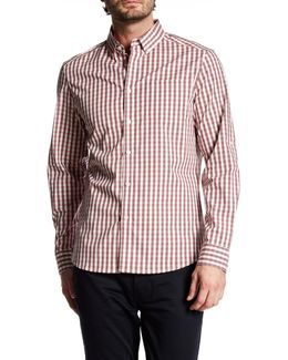 Long Sleeve Check Trim Fit Shirt
