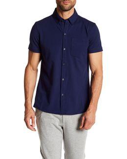 Woven Short Sleeve Polo