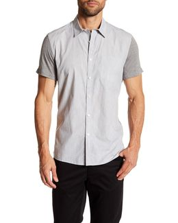 Short Sleeve Jersey Contrast Regular Fit Shirt