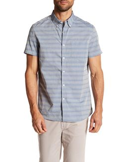 Multi-stripe Short Sleeve Slim Fit Shirt