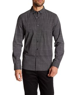 Micro Dot Long Sleeve Regular Fit Shirt