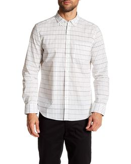 Grid Print Long Sleeve Regular Print Shirt