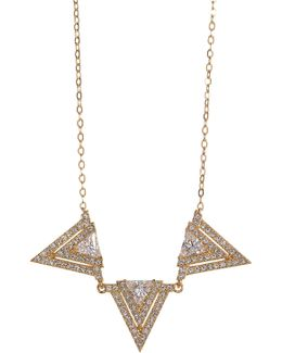 Linear Triangle Frontal Necklace