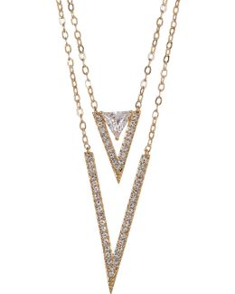 Double Layer Triangle Pendant Necklace
