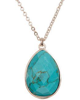 Milton Turquoise Teardrop Pendant Necklace