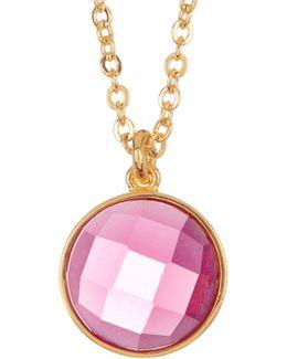 Hunter Pink Tourmaline Pendant Necklace