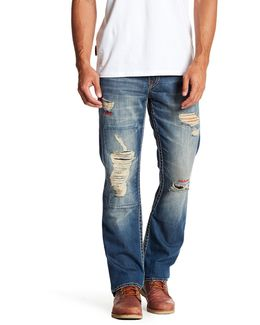 Embroidered & Distressed Jeans