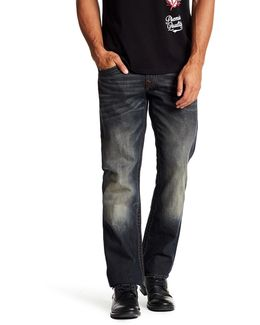 Straight Leg Flap Pocket Jeans