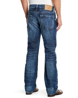 Faded Wash Straight Leg Jean