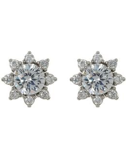 Cz Sun Stud Earrings