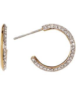 Lolo Crystal & Cz Pave Hoop Earrings