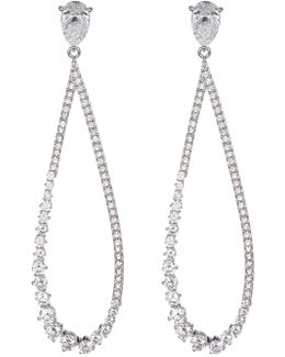 Lumiere Cz Graduated Pave Drop Earrings