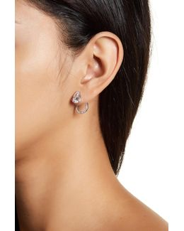 Celeste Cz Teardrop Ear Jacket Earrings