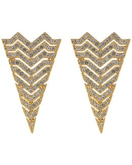 Chevron Triangle Stud Earrings