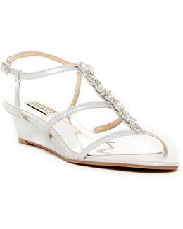 Carley Embellished Wedge Sandal - Wide Width Available