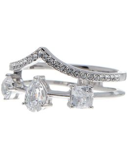 Celeste Cz Double Row Diadem Ring - Size 8