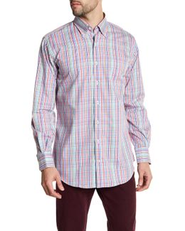 Seaside Collection Regular Fit Pinwheel Shirt