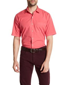 Solid Seaside Garment Regular Fit Dyed Short Sleeve Shirt