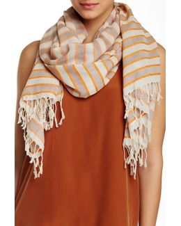 Pin Striped And Bright Scarf