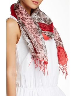 Paisley Silk Blend Scarf