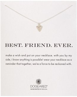 Sterling Silver Best Friends Forever Pyramid Charm Necklace