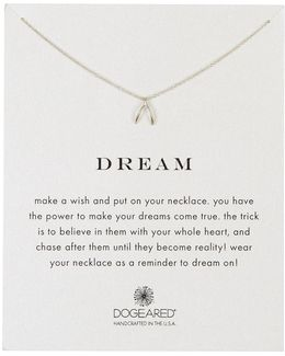 Sterling Silver Dream Wishbone Charm Necklace