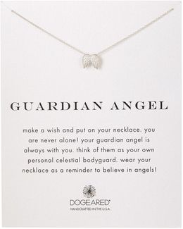 Sterling Silver Guardian Wings Charm Necklace