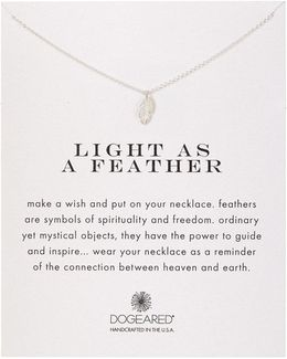 Sterling Silver Light As A Feather Charm Necklace
