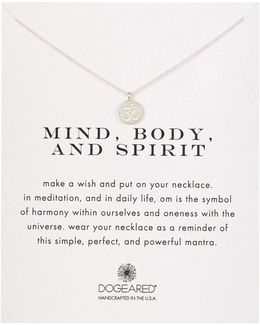 Sterling Silver Mind, Body, & Spirit Om Charm Necklace