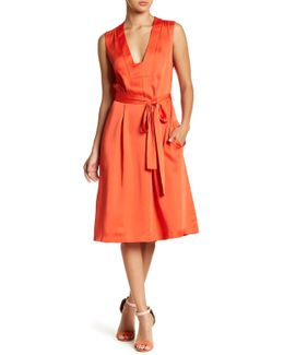 Sleeveless Woven City Dress