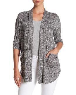 Ribbed Pocket Cardigan