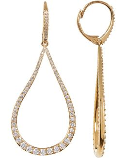 Cz Open Teardrop Earrings