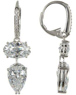 Celeste Cz Double Drop Earrings