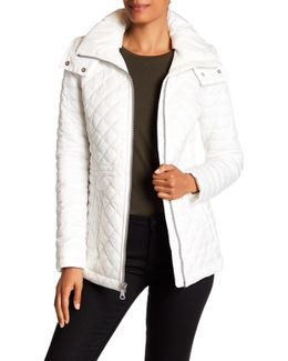 Emma Detachable Hood Quilted Jacket