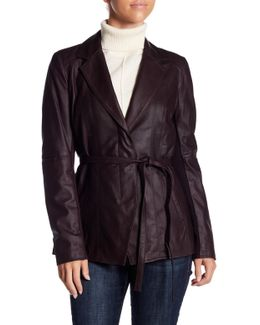 Farley Belted Leather Jacket