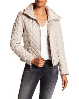 Charlie Stowable Hood Quilted Jacket