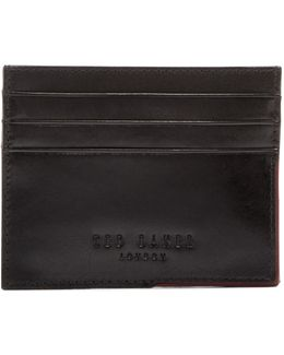 Cooke Leather Corner Detail Card Holder