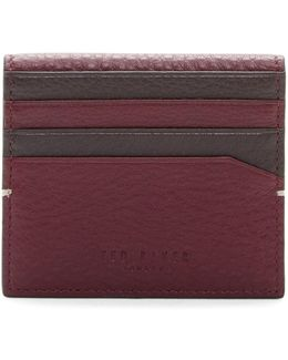 Dinky Leather Double Color Bifold Card Holder