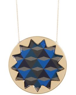 Pattern Sunburst Pendant Necklace