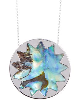 Sunburst Abalone Pendant Necklace