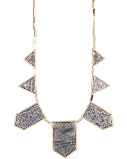 Two-tone Engraved Collar Necklace