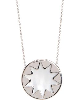 Mini Sunburst Pearl Pendant Necklace