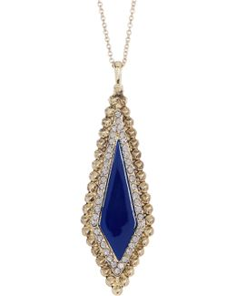 Enamel & Crystal Detail Pendant Necklace