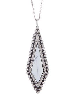 Enamel & Crystal Detail Pendant Necklace