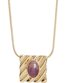 Ribbed Valda Pendant Necklace