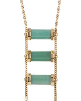 Triple Aventurine Drop Necklace