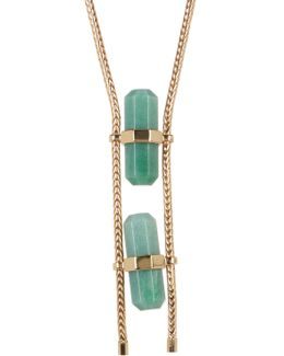 Double Aventurine Necklace